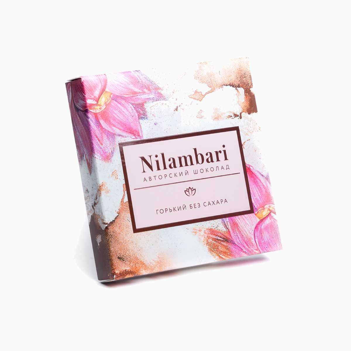 Шоколад Nilambari горький без сахара 65 гр