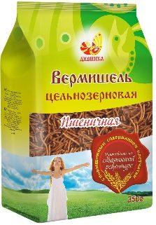 Вермишель пшеничная цельнозерновая Дивинка/350гр.