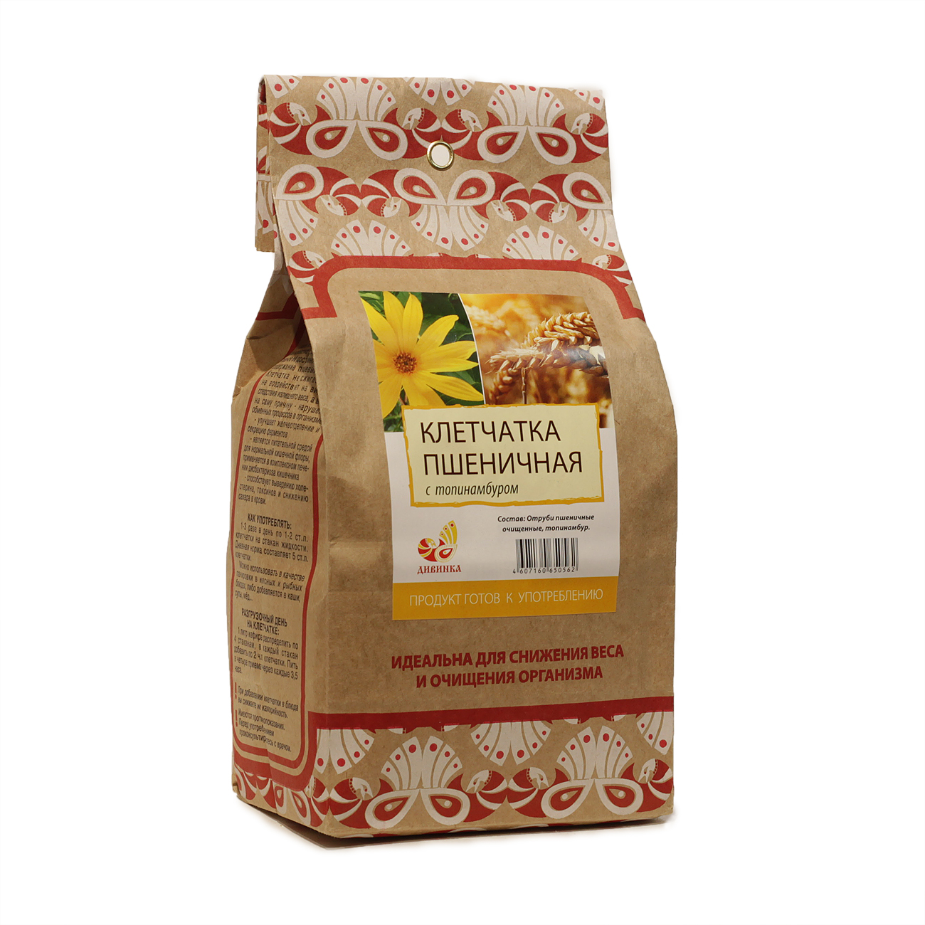 Клетчатка пшеничная Топинамбур пакет 300гр