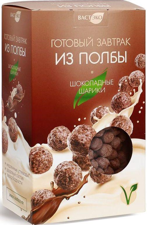 Готовый завтрак из полбы, шоколадные шарики Вастэко/200гр.