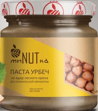 Паста урбеч из ядер лесного ореха МиNUTка/200гр.