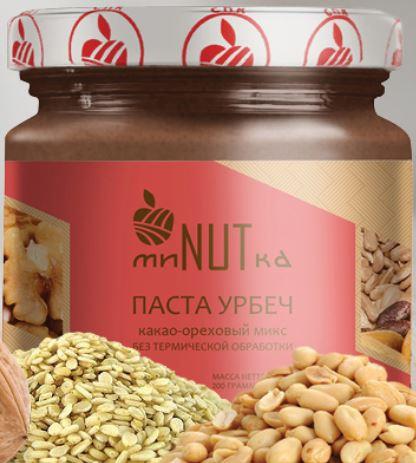 Паста урбеч какао-ореховый микс МиNUTка/200гр.