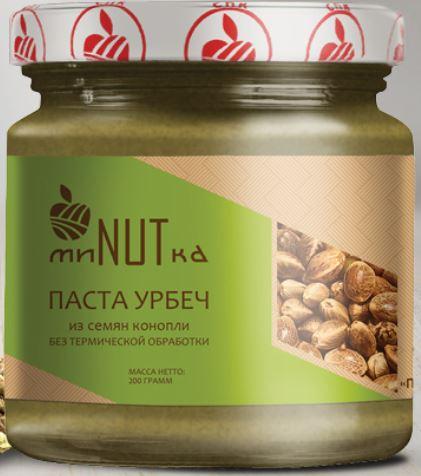 Паста урбеч из семян конопли МиNUTка/230гр.
