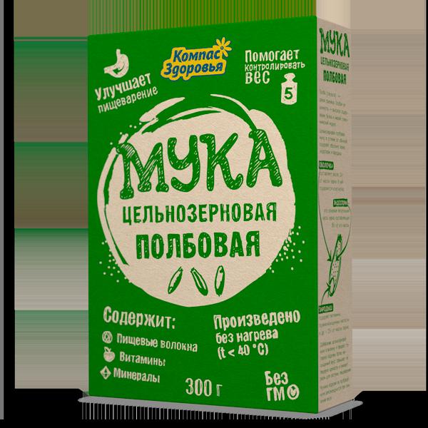 Мука цельнозерновая полбовая 300 гр