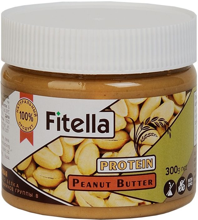 Арахисовая паста с рисовым белком Fitella/300гр.