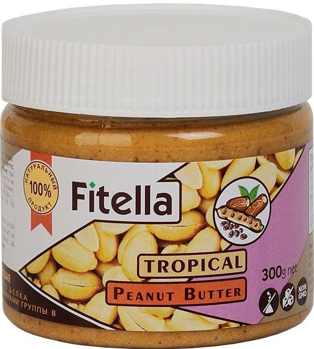 Арахисовая паста тропическая Fitella/300гр.