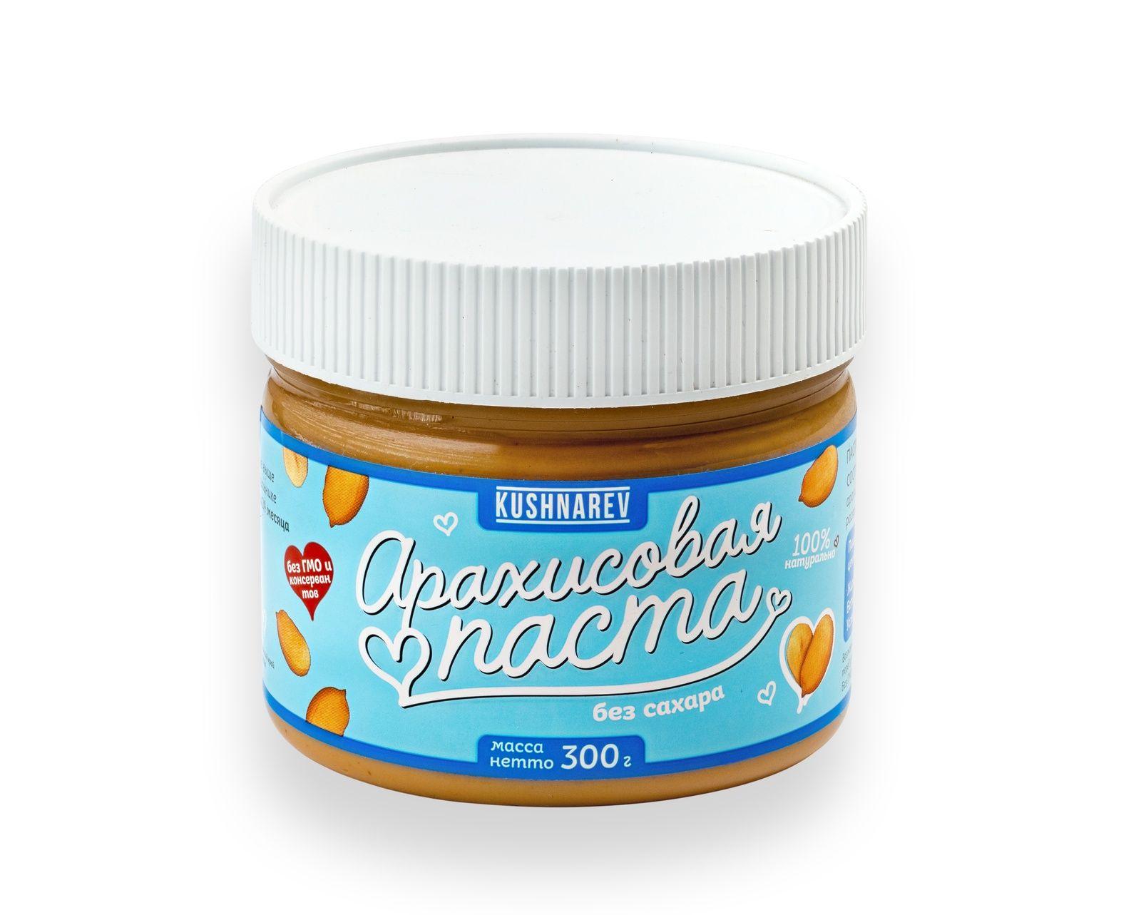 Арахисовая паста без сахара куш 300гр