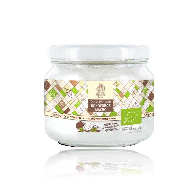 Кокосовое масло органическое 250мл Organica