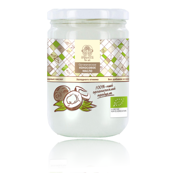 Кокосовое масло Organica, 500мл. Oфа