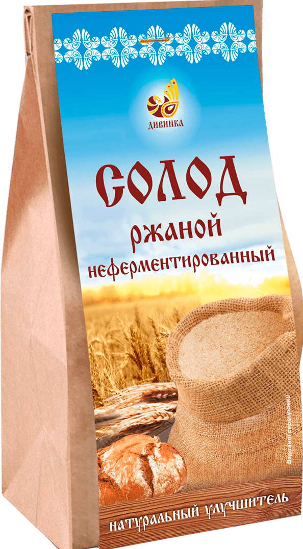 Солод ржаной неферментированный Дивинка/500гр.