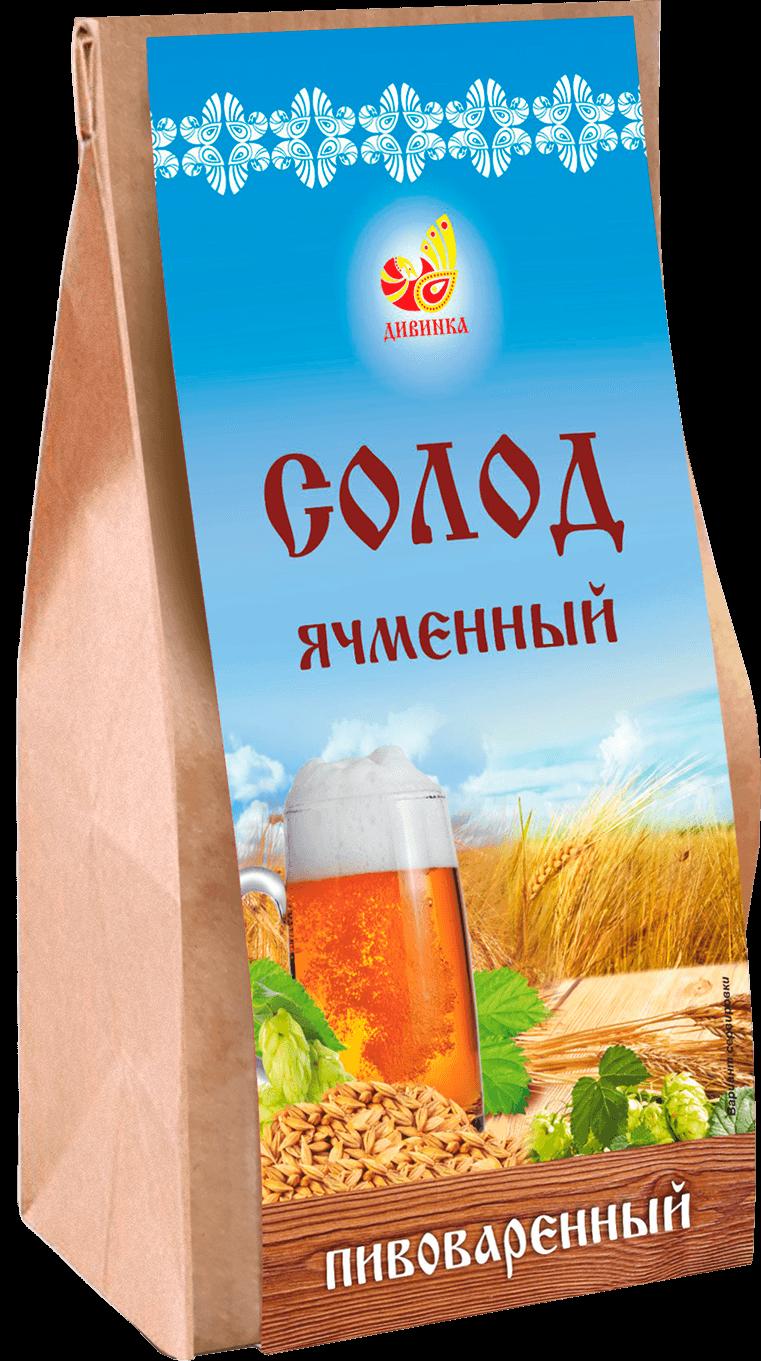 Солод ячменный пивоваренный Дивинка/700гр.