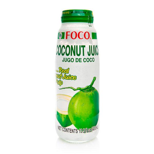 Кокосовый сок с мякотью FOCO ст.бут., 400мл