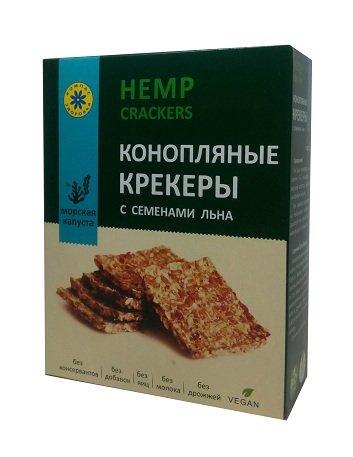 Крекер Коноплянный с морской капустой 150 г*14