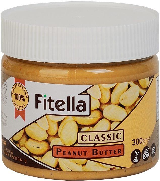 Арахисовая паста классическая Fitella/300гр.