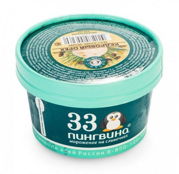 Мороженое кедровый орех, 33 пингвина, 70г