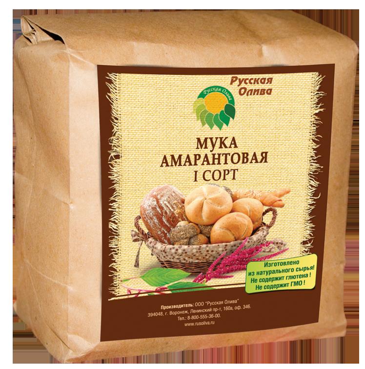 Мука амарантовая Первого сорта 0.5 кг