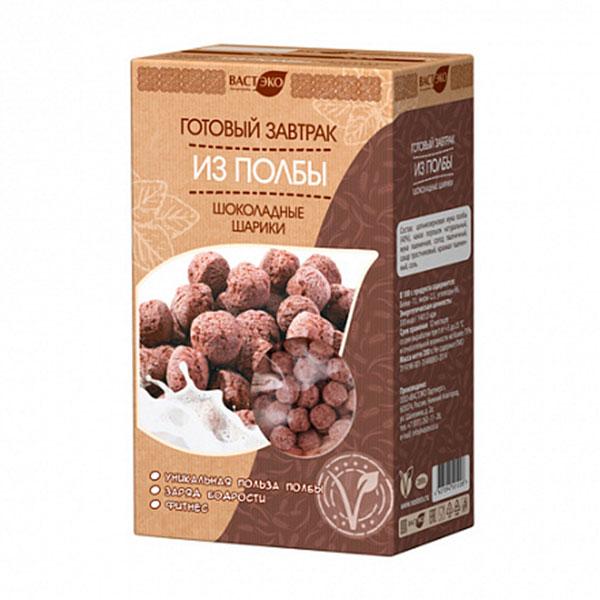 готовый завтрак из полбы шоколадные шарики, 200 гр.
