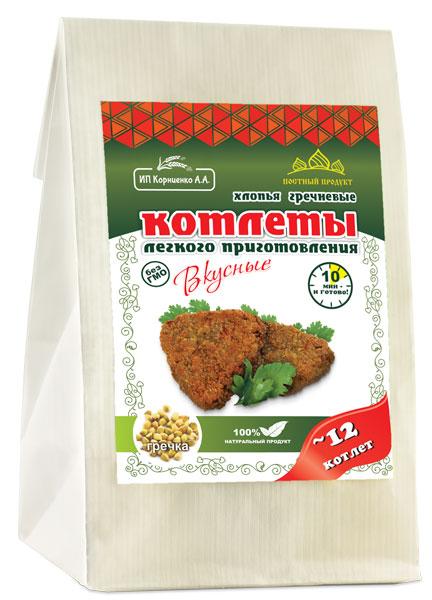 Котлеты гречневые с асафетидой ИП Корниенко/230гр.
