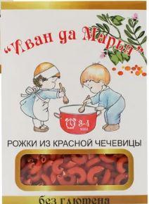 Рожки из красной чечевицы Иван да Марья/400гр.