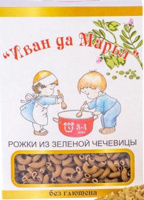 Рожки из зелёной чечевицы Иван да Марья/400гр.